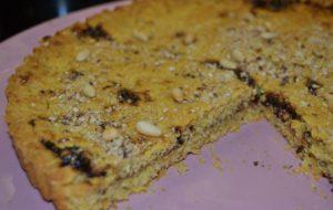 Torta rustica di mais e prugne. Gluten Free