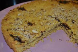 Torta rustica di mais e susine