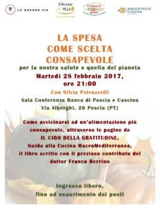 Pescia. La spesa come scelta consapevole per la nostra salute e quella del pianeta @ Sala Conferenze Banca di Pescia e Cascina | Pescia | Toscana | Italia