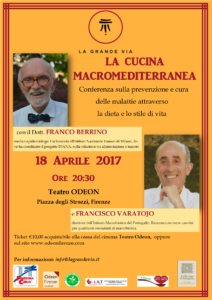 Dottor Berrino e Varatojo a Firenze. Conferenza sulla prevenzione e cura delle malattie attraverso dieta e stile di vita @ Teatro Odeon | Firenze | Italia