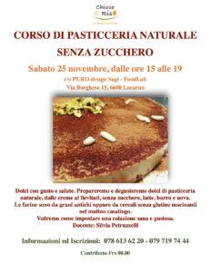 Svizzera: Corso di Pasticceria Naturale Senza Zucchero @ PURO design Sagl - FoodLab | Locarno | Ticino | Svizzera