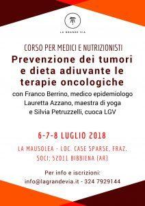 Con il Dottor Franco Berrino. Prevenzione dei Tumori @ La Mausolea | Bibbiena | Toscana | Italia