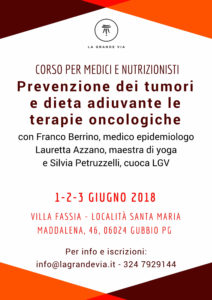 Con il Dottor Franco Berrino. Prevenzione dei Tumori @ Villa Fassia  | Gubbio | Umbria | Italia