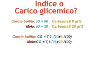 Indice o carico glicemico?