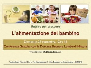 L'alimentazione del Bambino. Conferenza gratuita Rimini @ Agriturismo Pian del Pigro