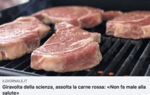 Assolta la carne rossa… Non fa male alla salute!