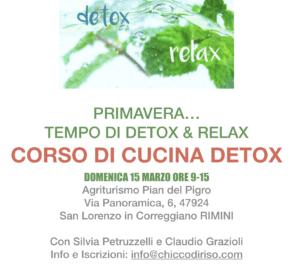 Rimini: Disintossichiamo corpo, mente ed emozioni. Corso DETOX @ Agriturismo Pian del Pigro