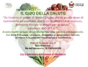 Capannori: Conferenza Il Cibo della Salute @ Sala Artemisia